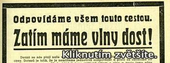 Máme vlny dost. Copywriting roku 1939.