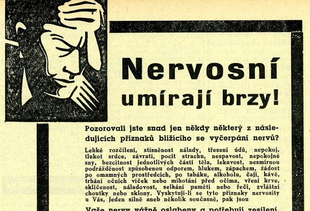 Nervosní umírají brzy - obsahový marketing roku 1939.
