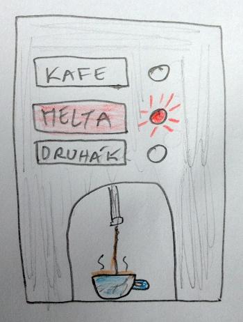 Automat na kávu zbystří mysl.