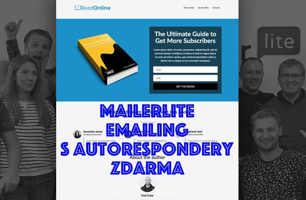 MailerLite – e-mailing s autorespondery zdarma.