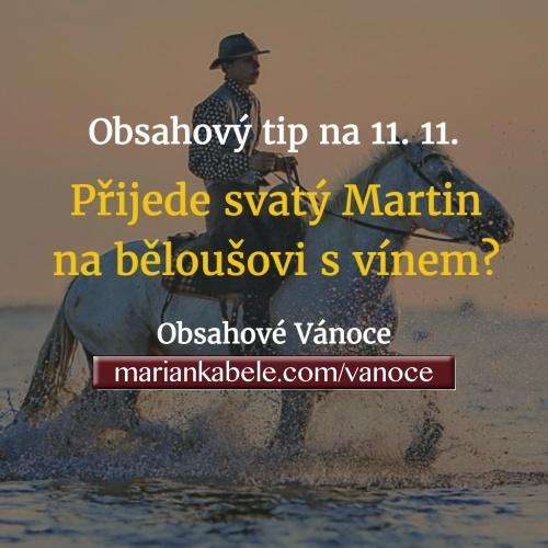 Obsahový tip na 11. 11. – Přijede svatý Martin na běloušovi? A přiveze Svatomartinské víno?