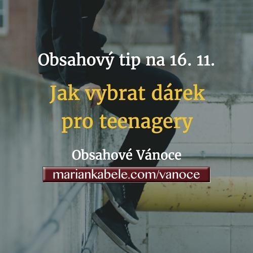 Obsahový tip na 16. 11. – Jak vybrat dárek pro kluky i holky teenagery?