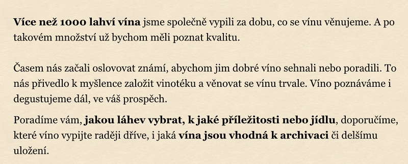 Texty pro Moravskou Vinotéku.