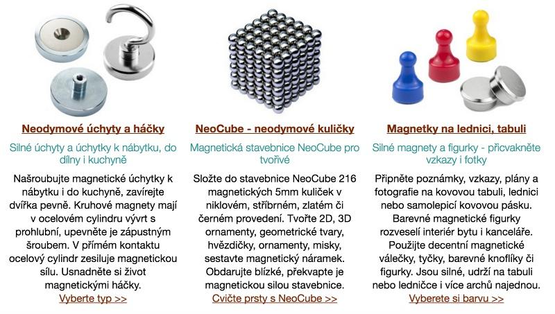 Texty pro microsite SilneMagnety.