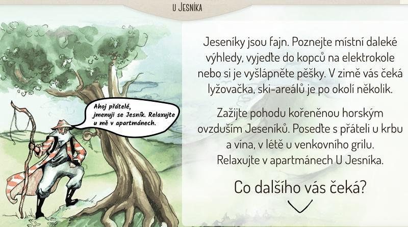 Texty na web horských apartmánů U Jesníka.