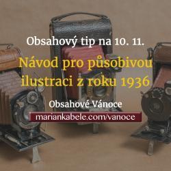 Obsahový tip na 10. 11. –Jednoduchý návod pro ilustraci zboží z roku 1936