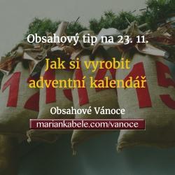 Obsahový tip na 23. 11. – Jak vyrobit adventní kalendář