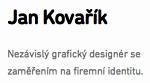 Jan Kovařík, nezávislý grafický designér, JanKovarik.net
